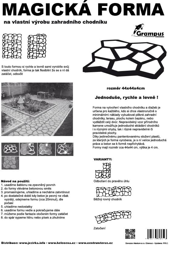 Forma na beton pro výrobu vlastního chodníku