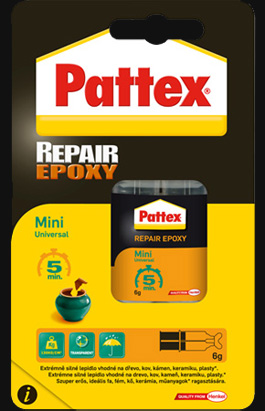 Lepidlo Pattex Repair Epoxy Mini Universal 5 min 6 ml