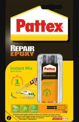 Lepidlo Pattex Repair Epoxy Instant Mix 1 min 11 ml