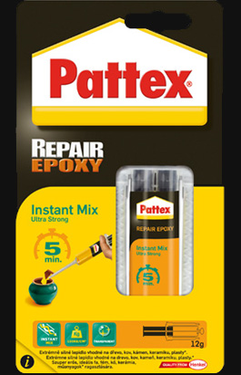 Lepidlo Pattex Repair Epoxy Instant Mix 5 min 11 ml